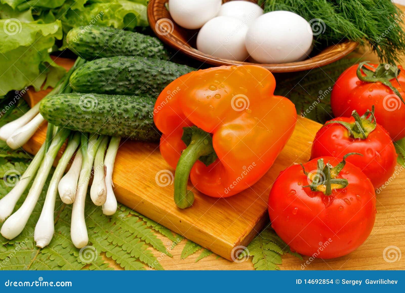 Appetizing light vegetables snack