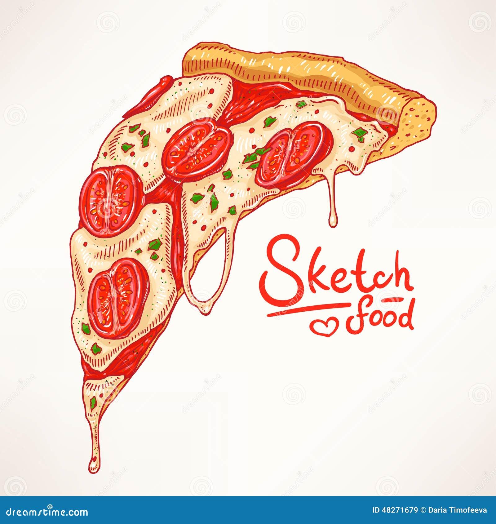 Нарисованная пицца картинки