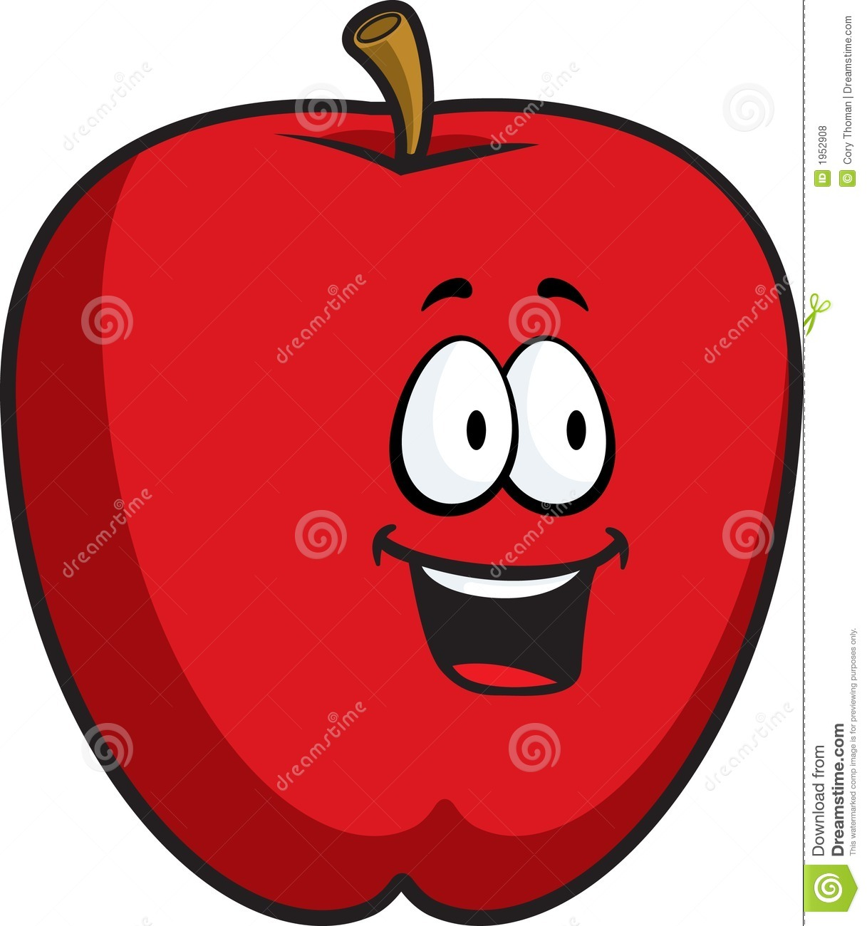 free smiling apple clipart - photo #27