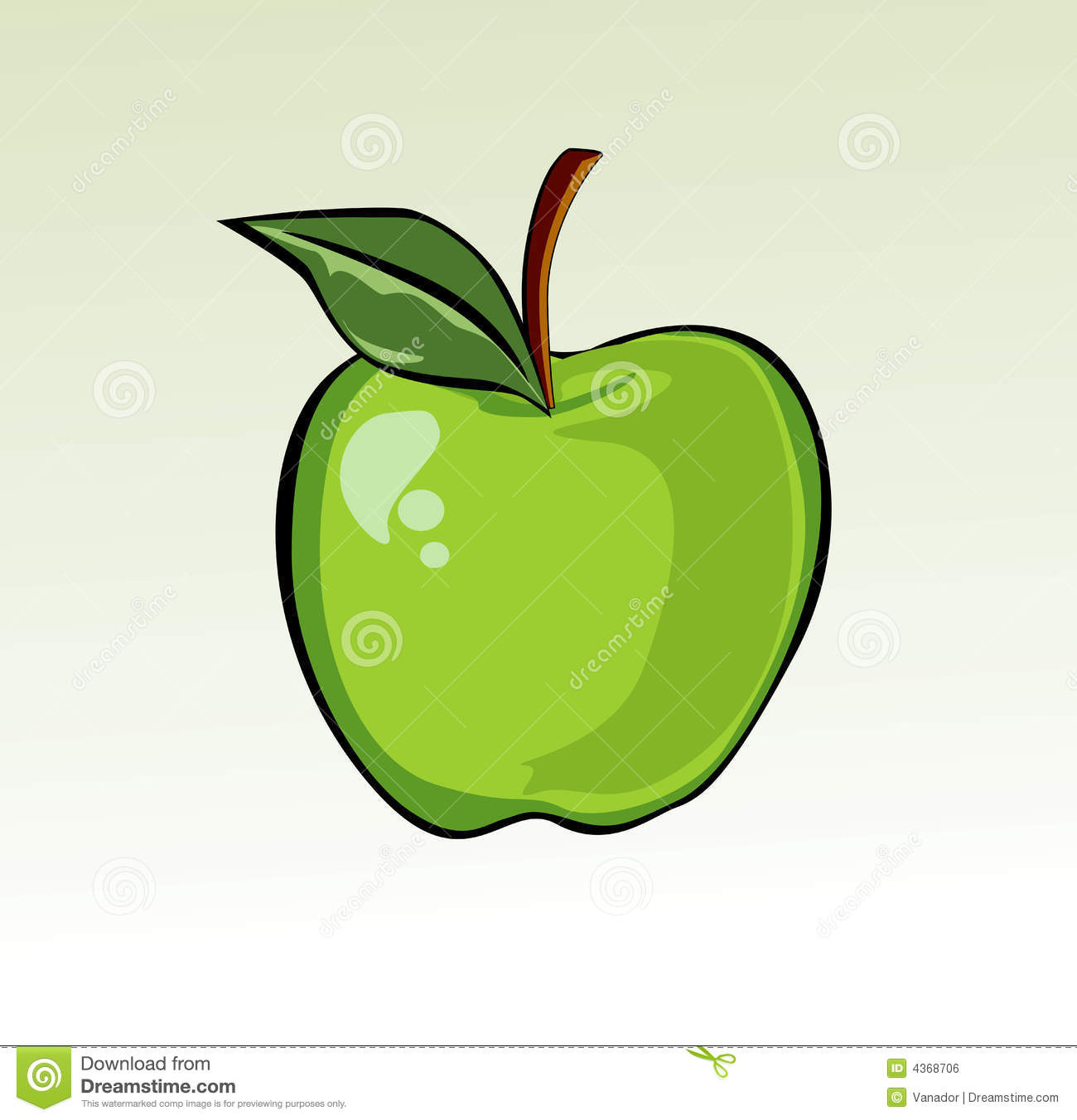 delicious green apple illustration - photo #24