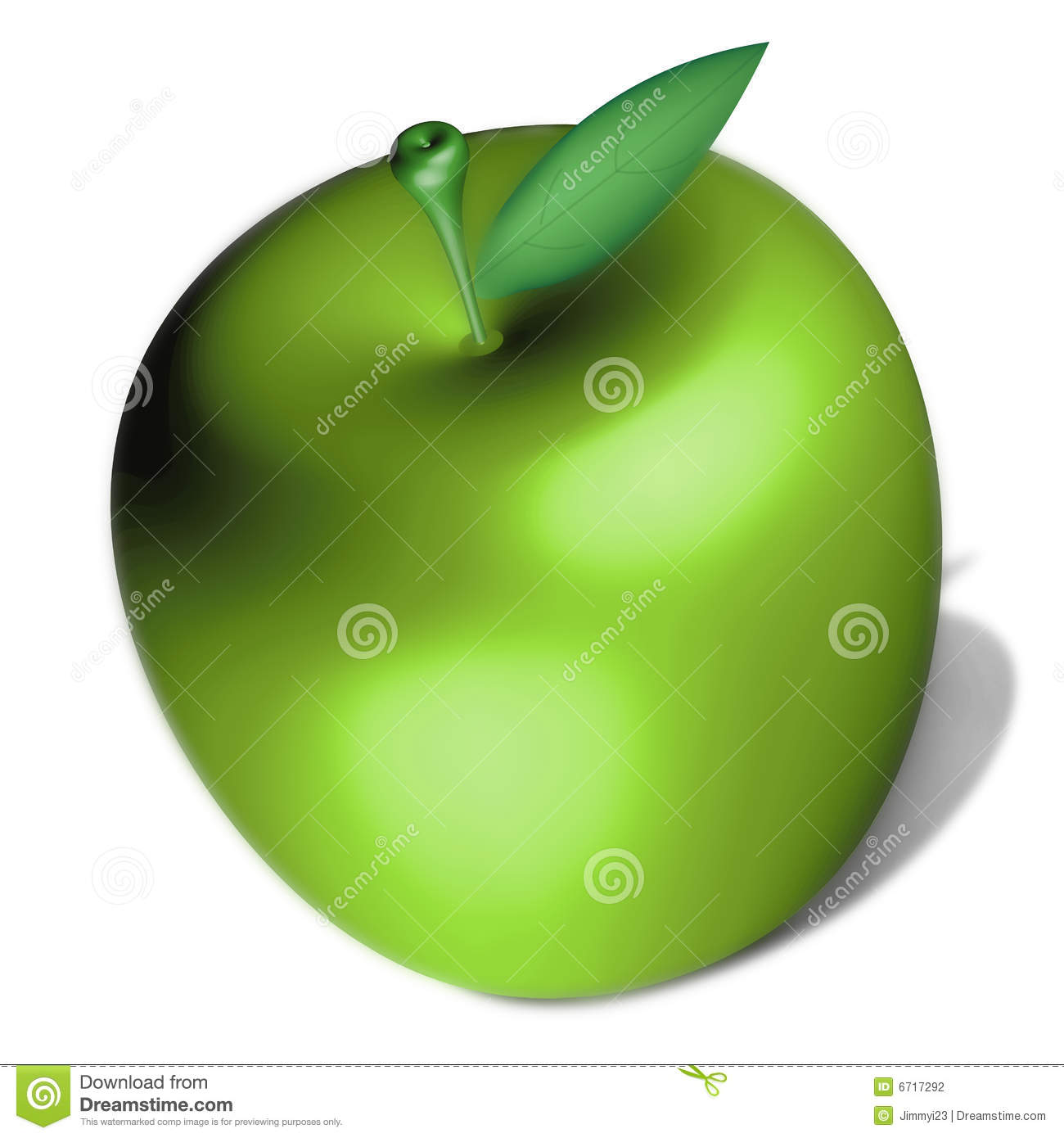 delicious green apple illustration - photo #2