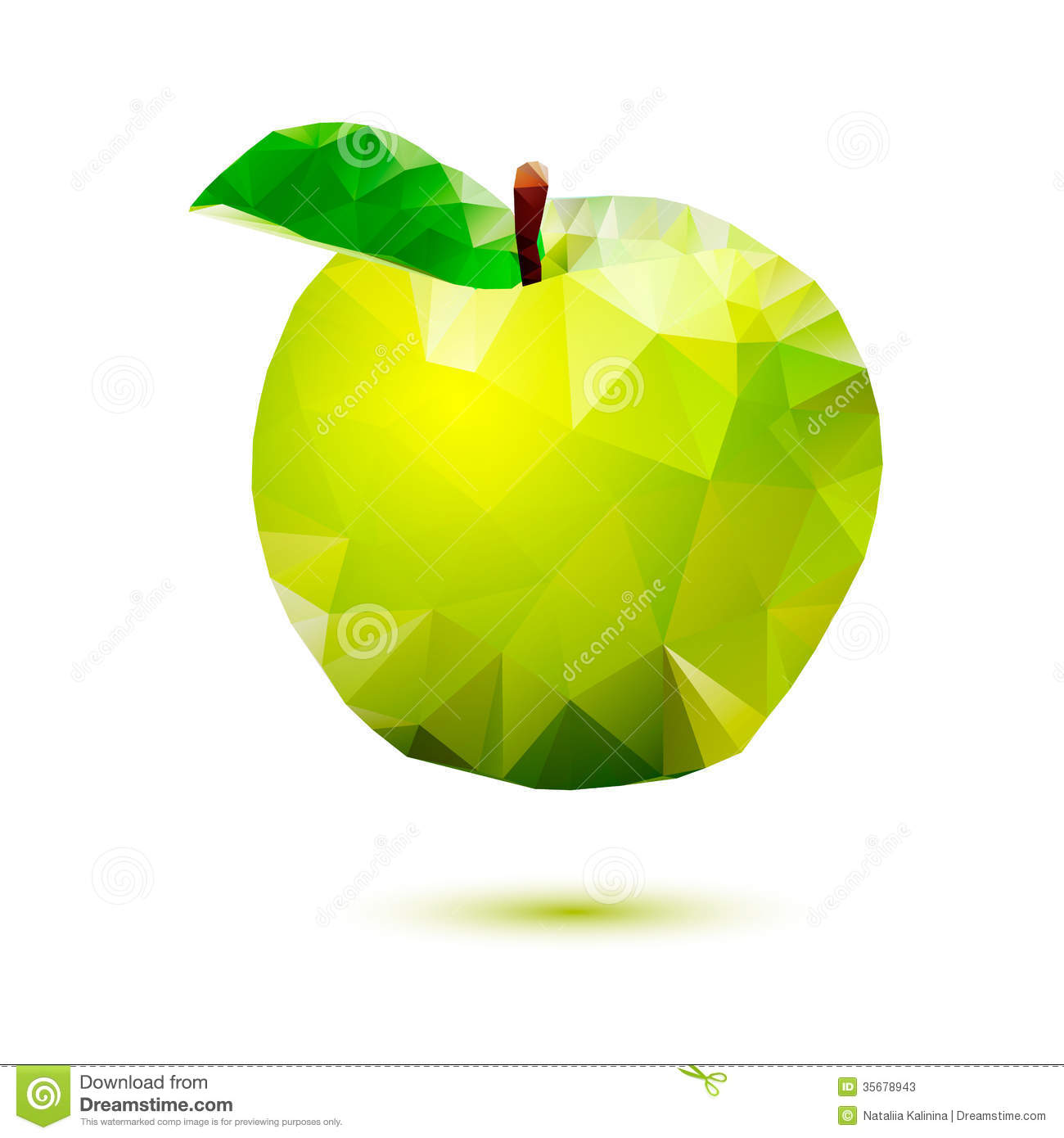 Apple Abstract Isolated On A White Backgrounds Stock