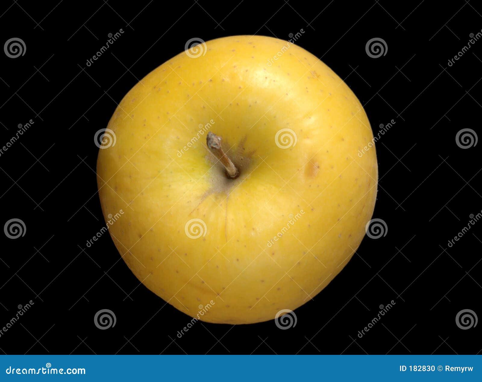 Apple amarillo sobre negro