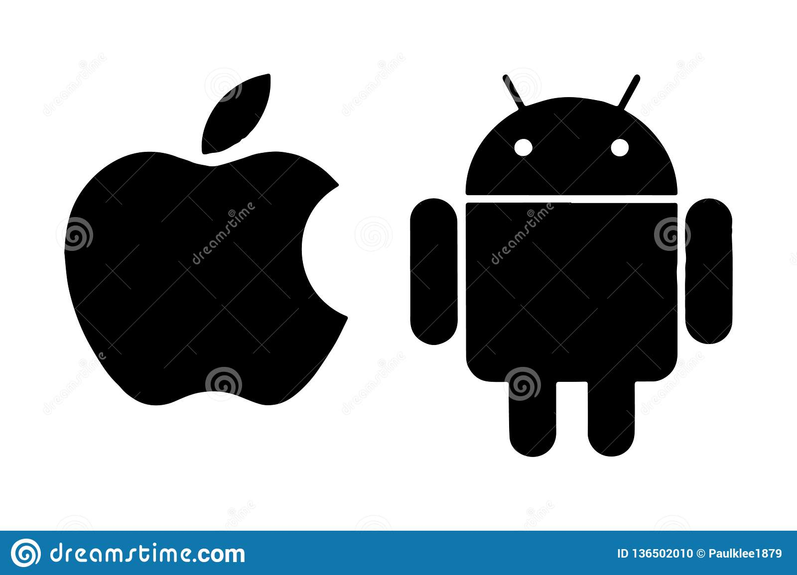 Apple Android Logo Editorial Vector
