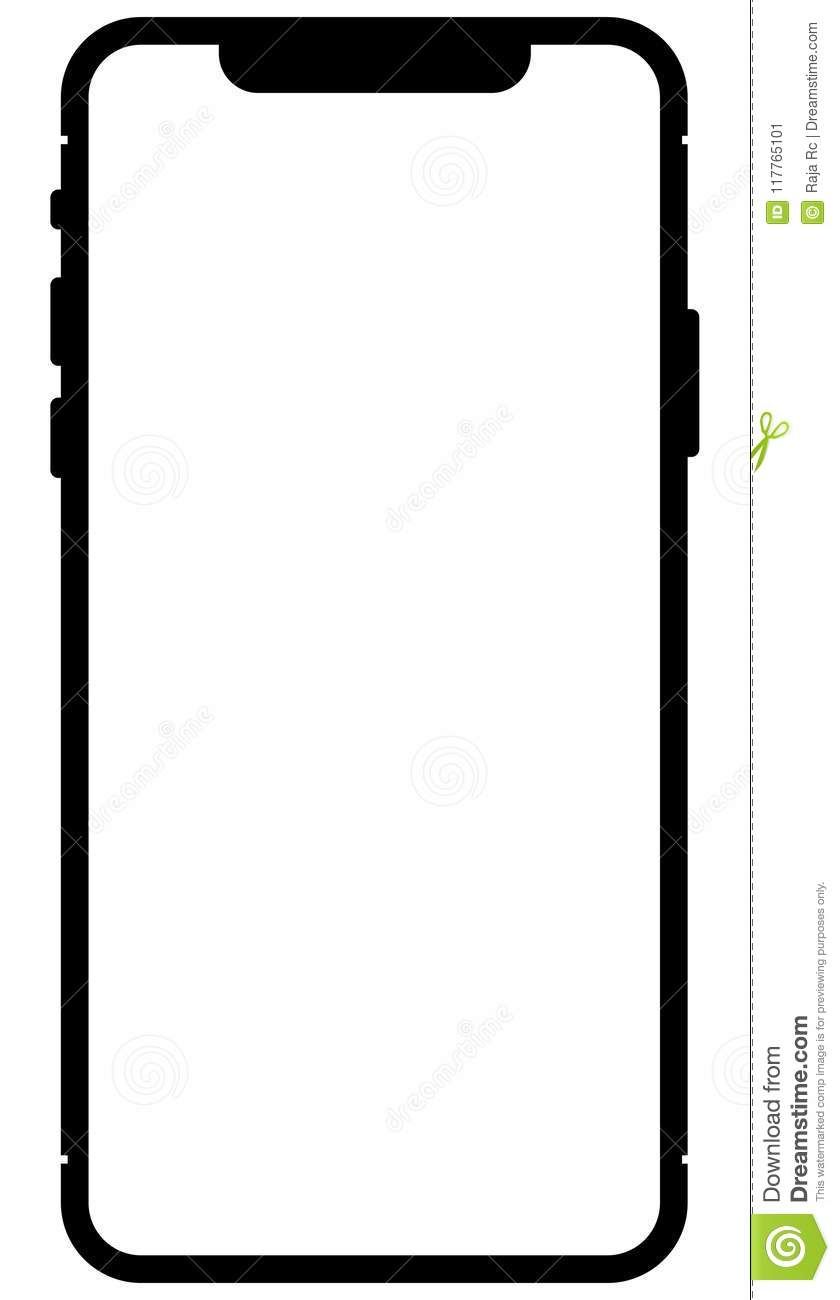 Apple android mobile phone outline