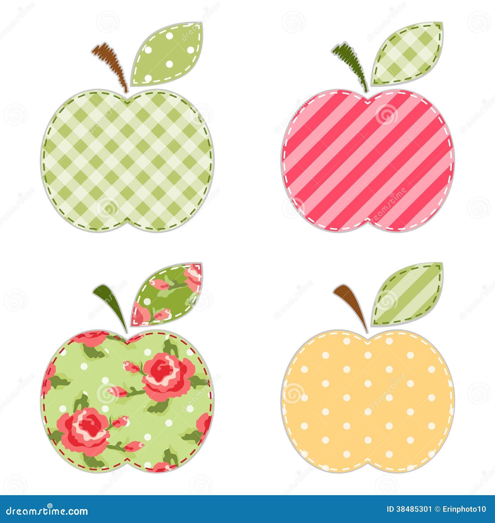 Apple Applique Stock Image Image 38485301