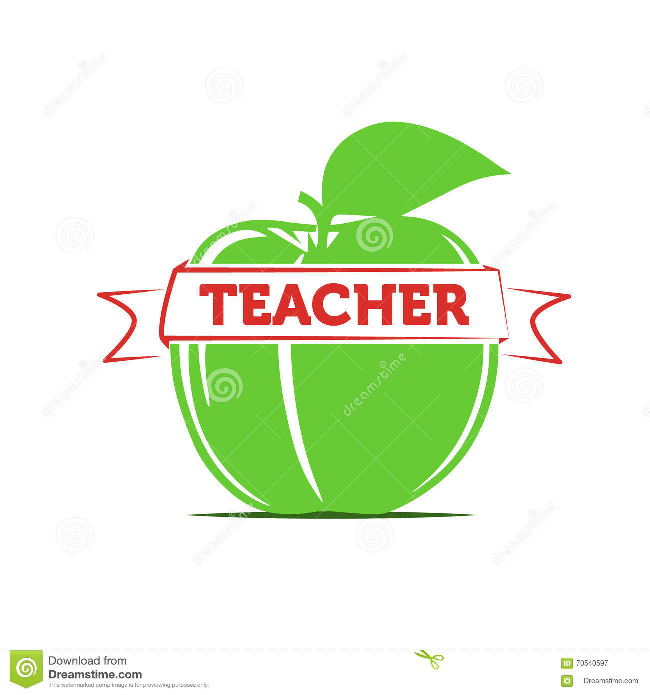 Apple As A Symbol Of A Teacher Teaching Stock Vector