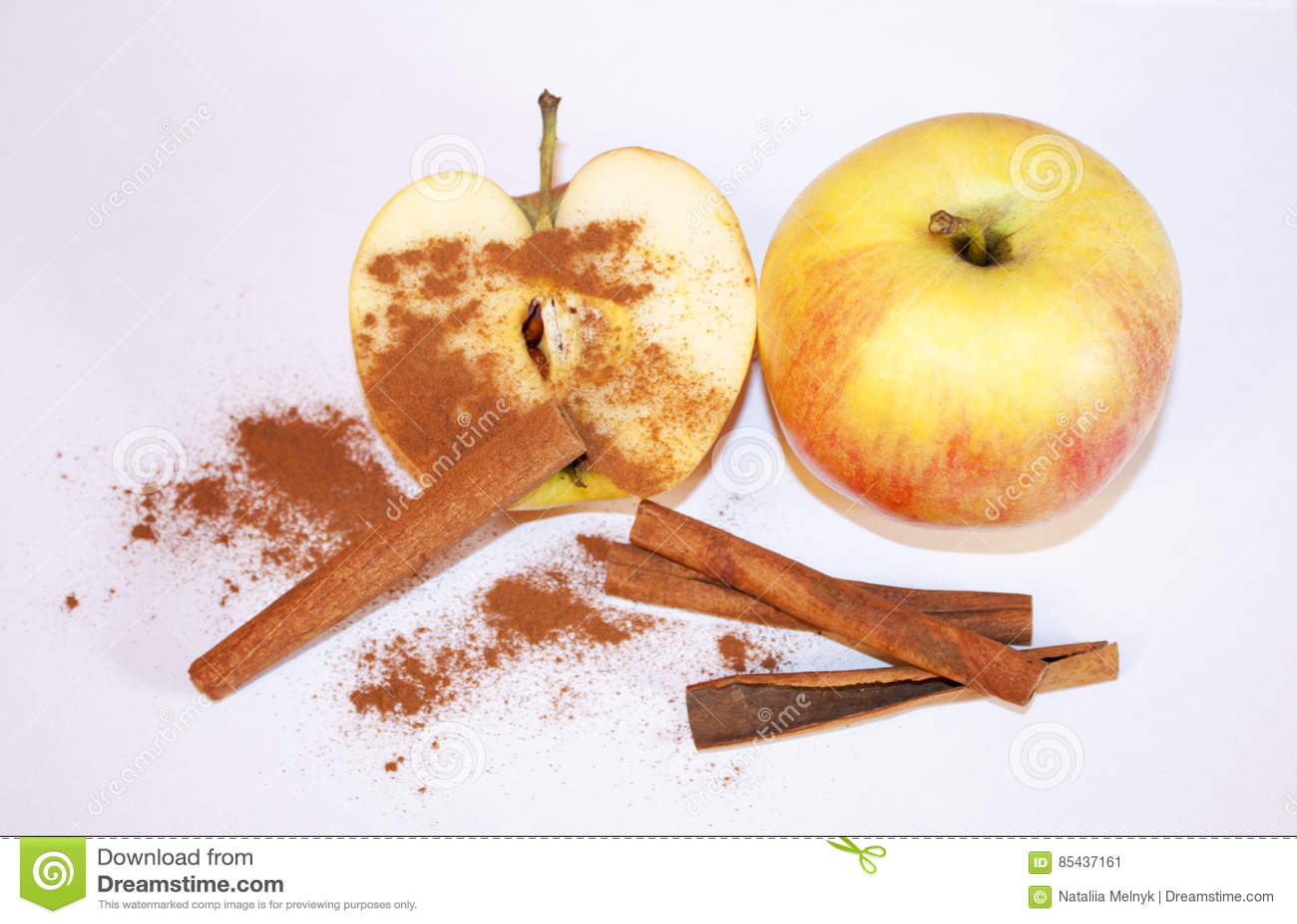 Apple avec de la cannelle