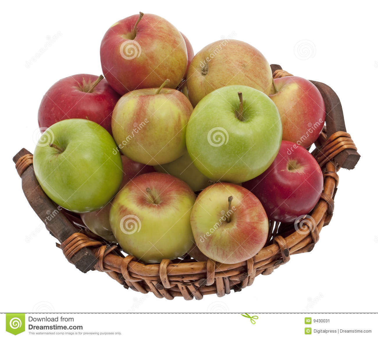Download Apple basket stock image. Image of types, apple, food - 9430031