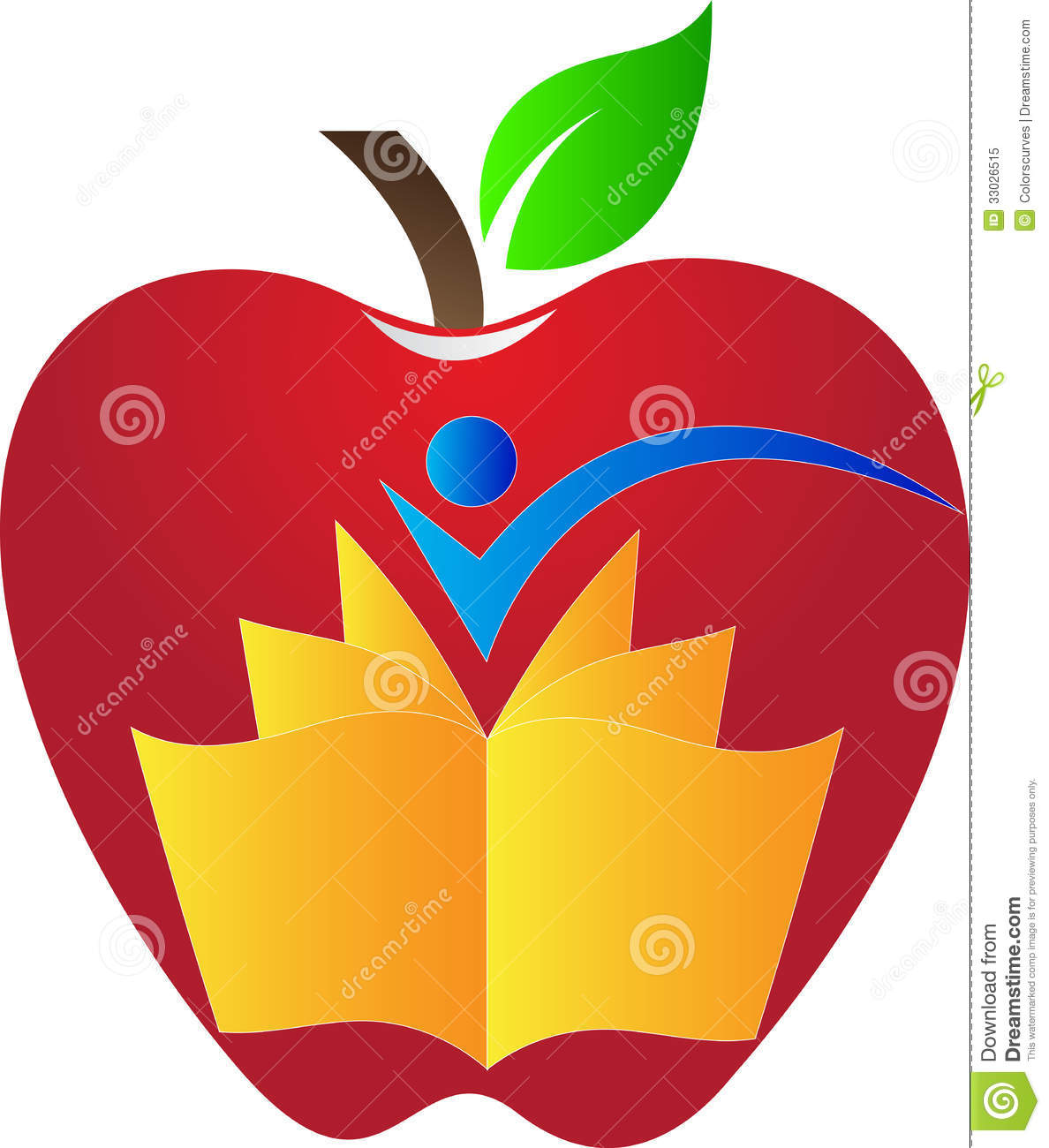 Apple and book 01a stock photo 2055624 for Apple design book