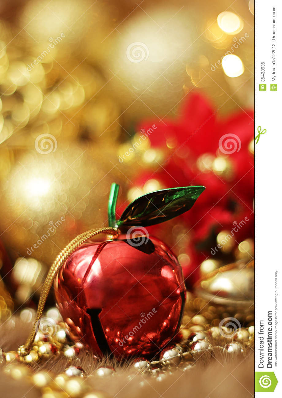 apple christmas bell royalty free stock photo image