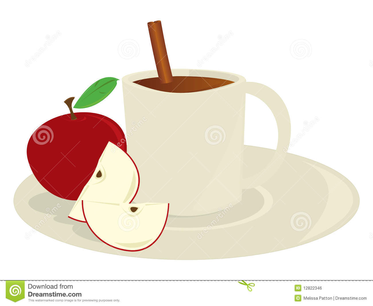 apple cider in mug stock vector illustration of isolated 12822346 rh dreamstime com hot apple cider clipart apple cider clipart free