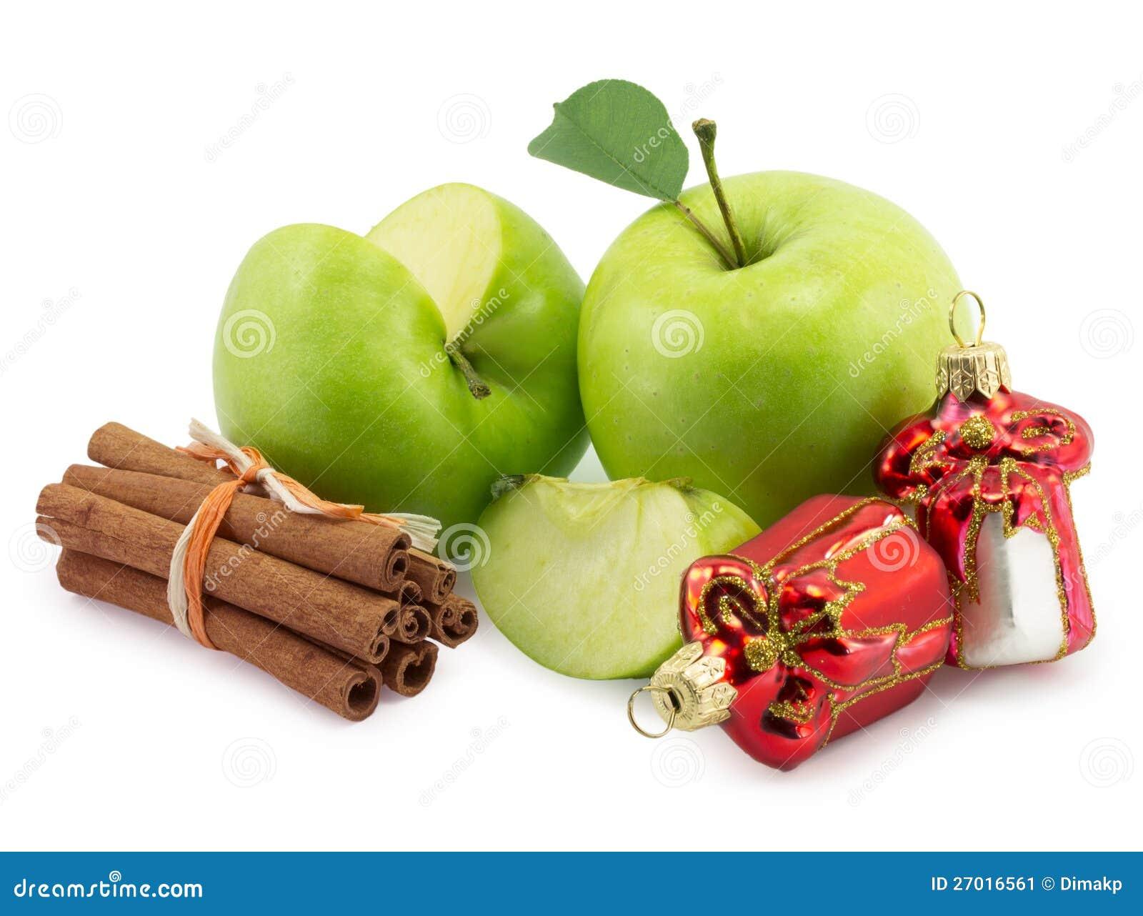 Apple, Cinnamon, Christmas Decorations Stock Image - Image ...