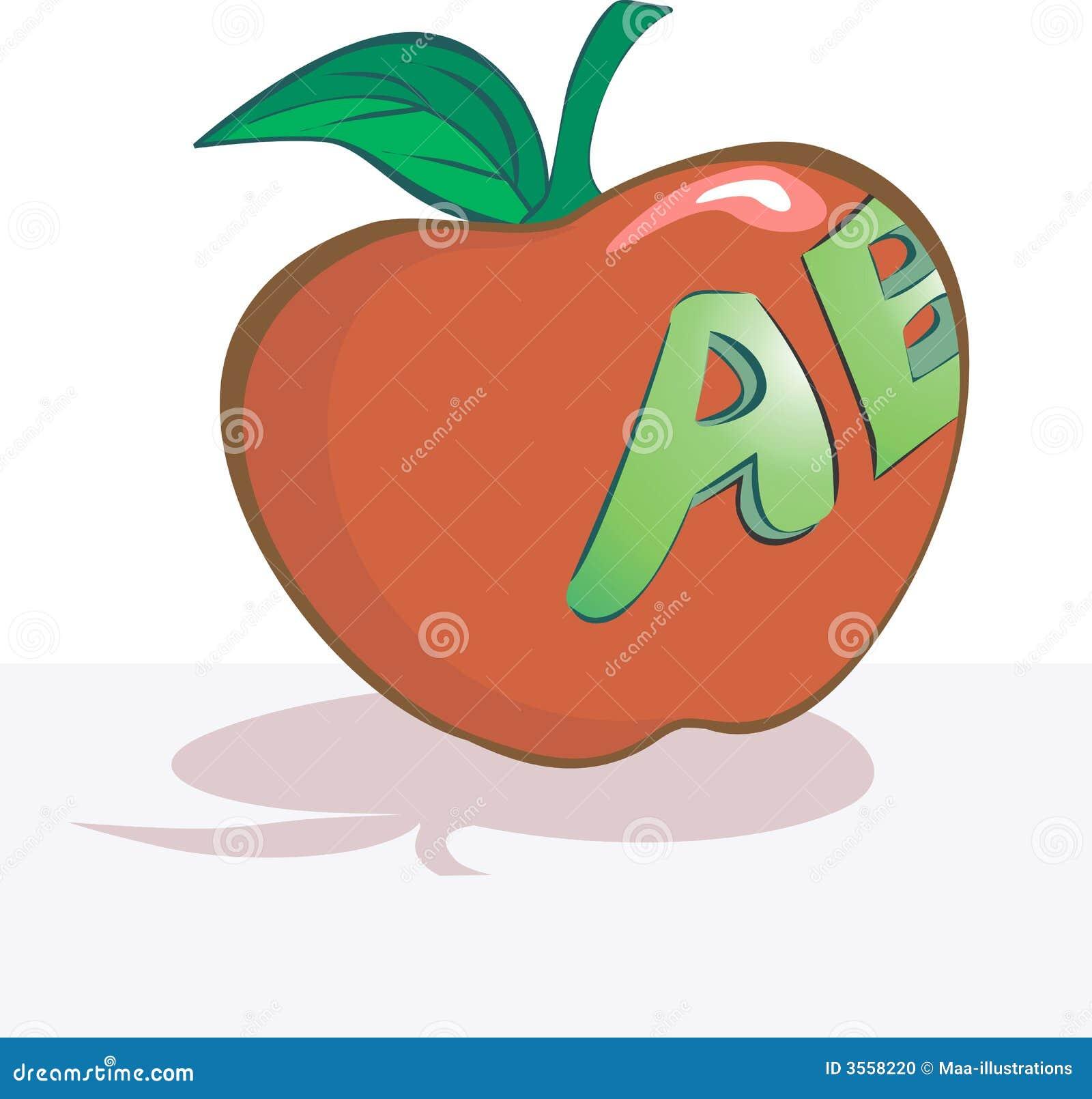 Apple con scrittura