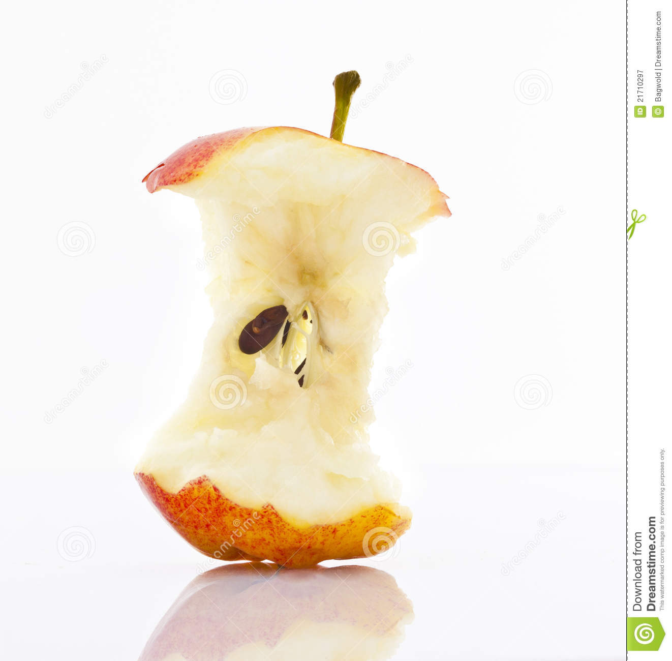 Apple Core Royalty Free Stock Photography Image 21710297