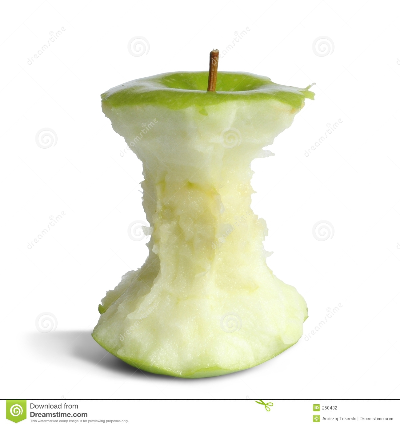 Apple Core Stock Photography - Image: 250432