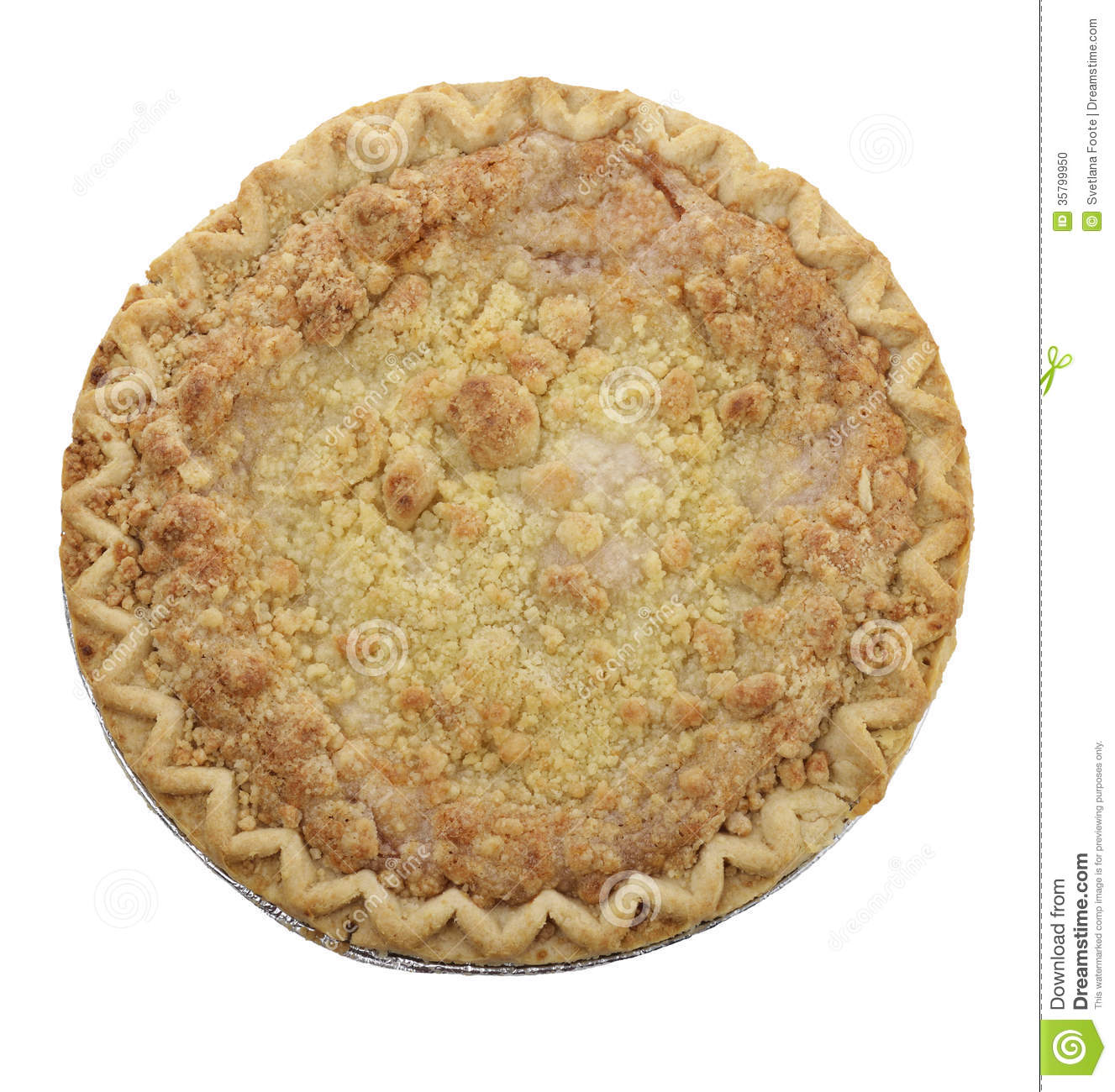 Apple Crumb Pie Stock Photo - Image: 35799950