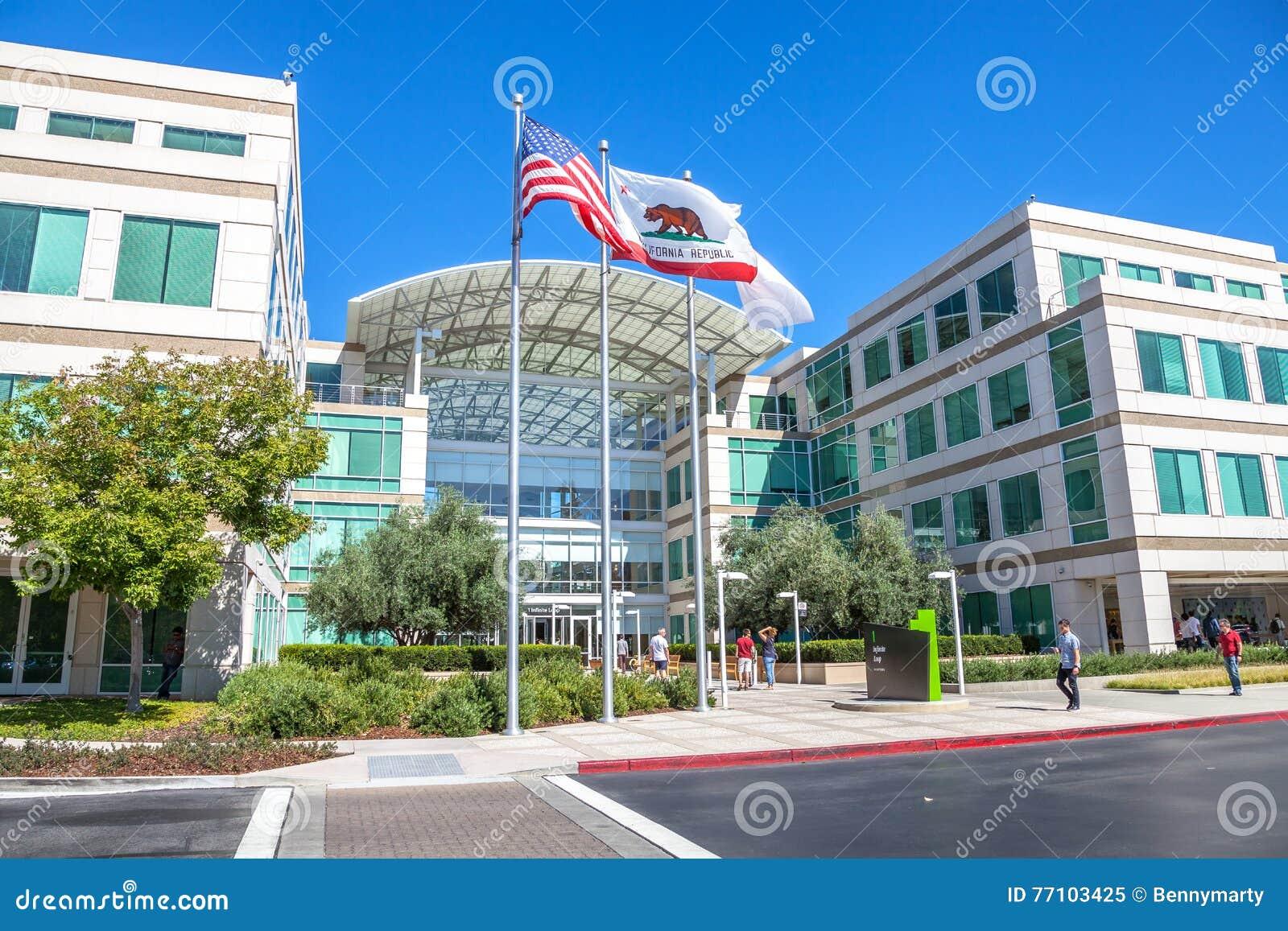 Apple Cupertino California editorial image  Image of
