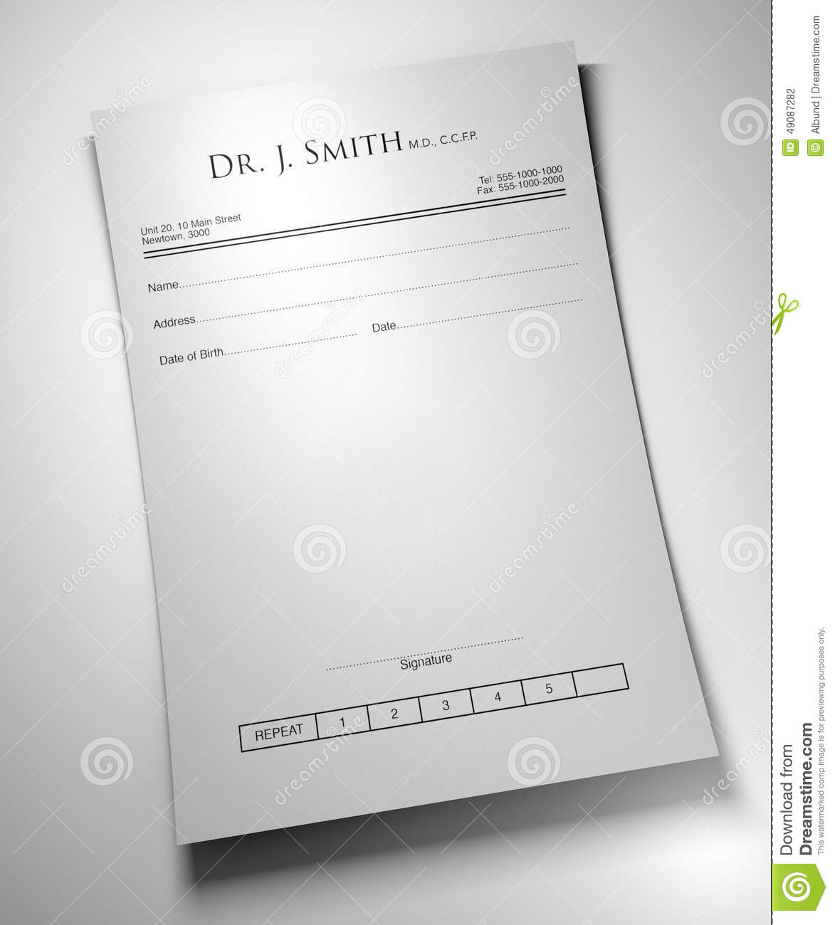 An Apple A Day Pill Prescription Stock Illustration - Image: 49087282