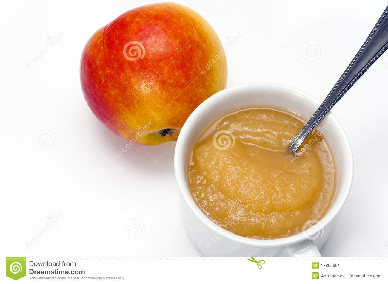 Apple And Delicious Apple Sauce Stock Image - Image: 17890991