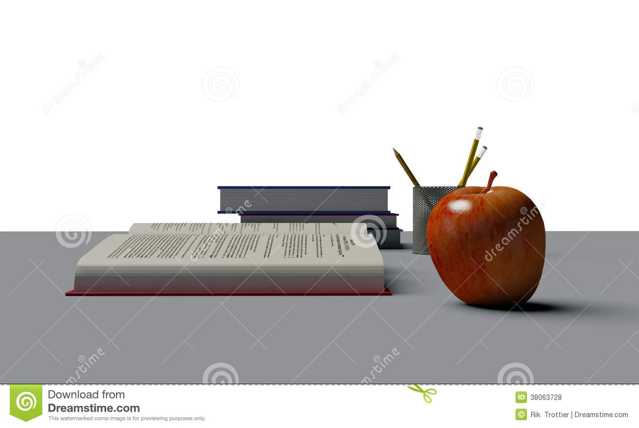 Apple A Desk Royalty Free Stock s Image