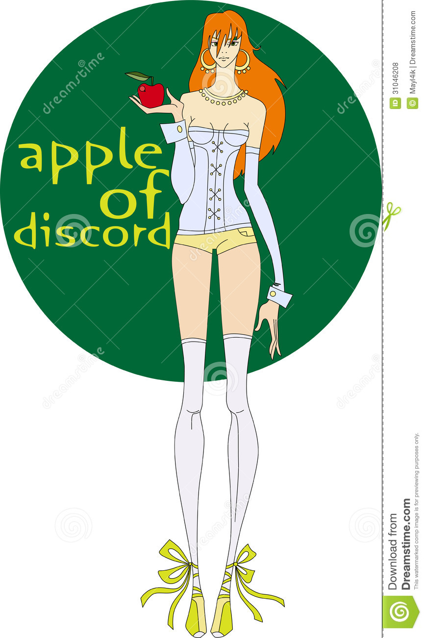 Apple of discord stock vector  Illustration of apples - 31046208