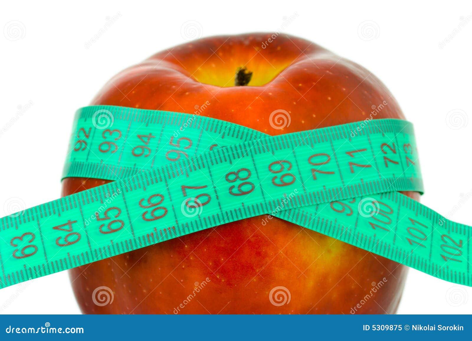 Download Apple E Nastro Di Misurazione Immagine Stock - Immagine di alimento, misura: 5309875