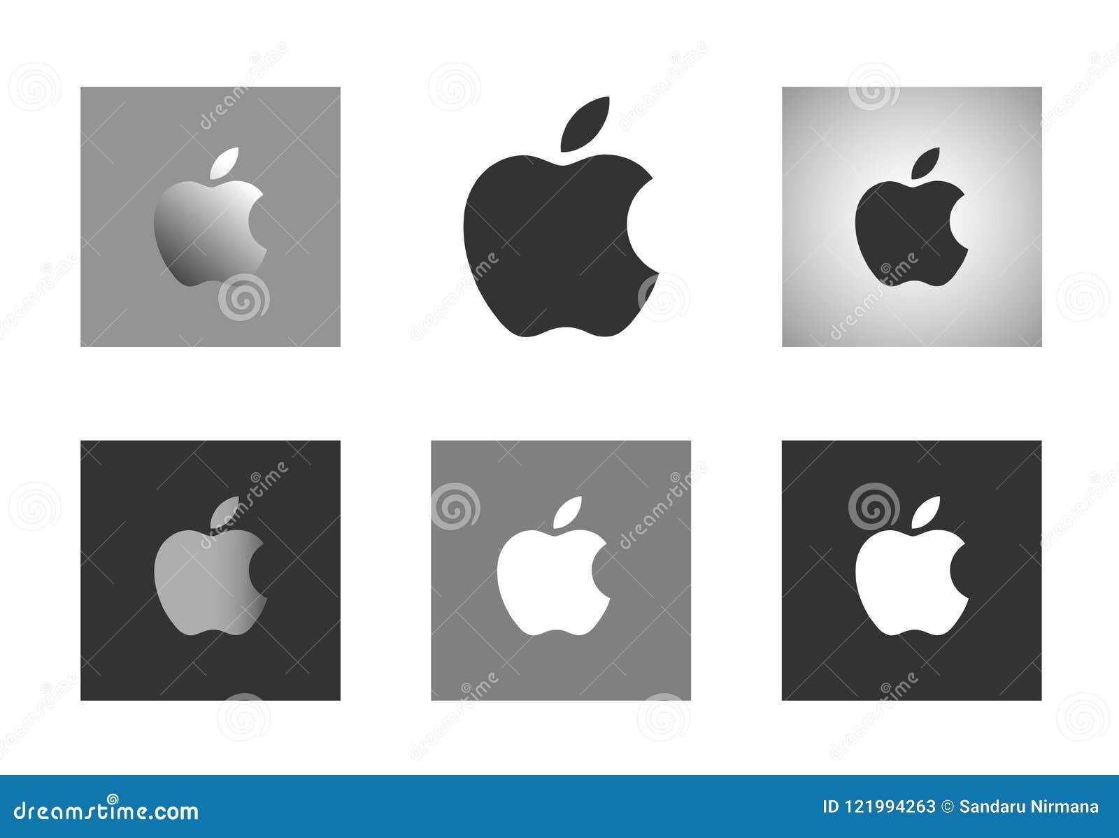 Apple-embleem op witte achtergrond wordt geplaatst die