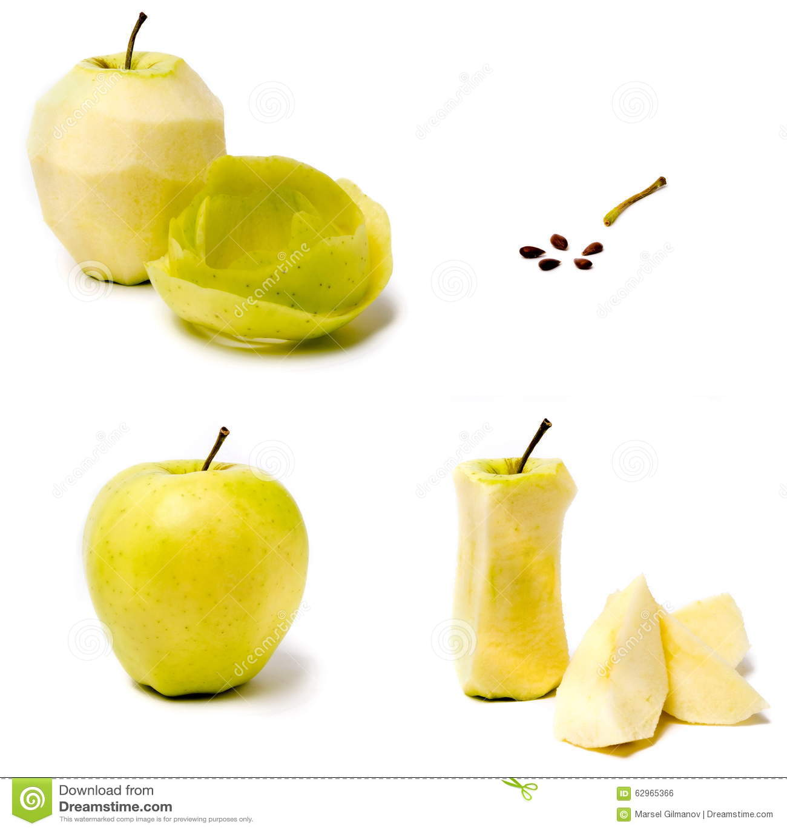 Apple en un fondo blanco