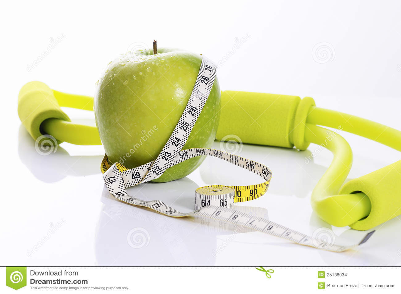 Apple fitness and nutrition spirit stock images image