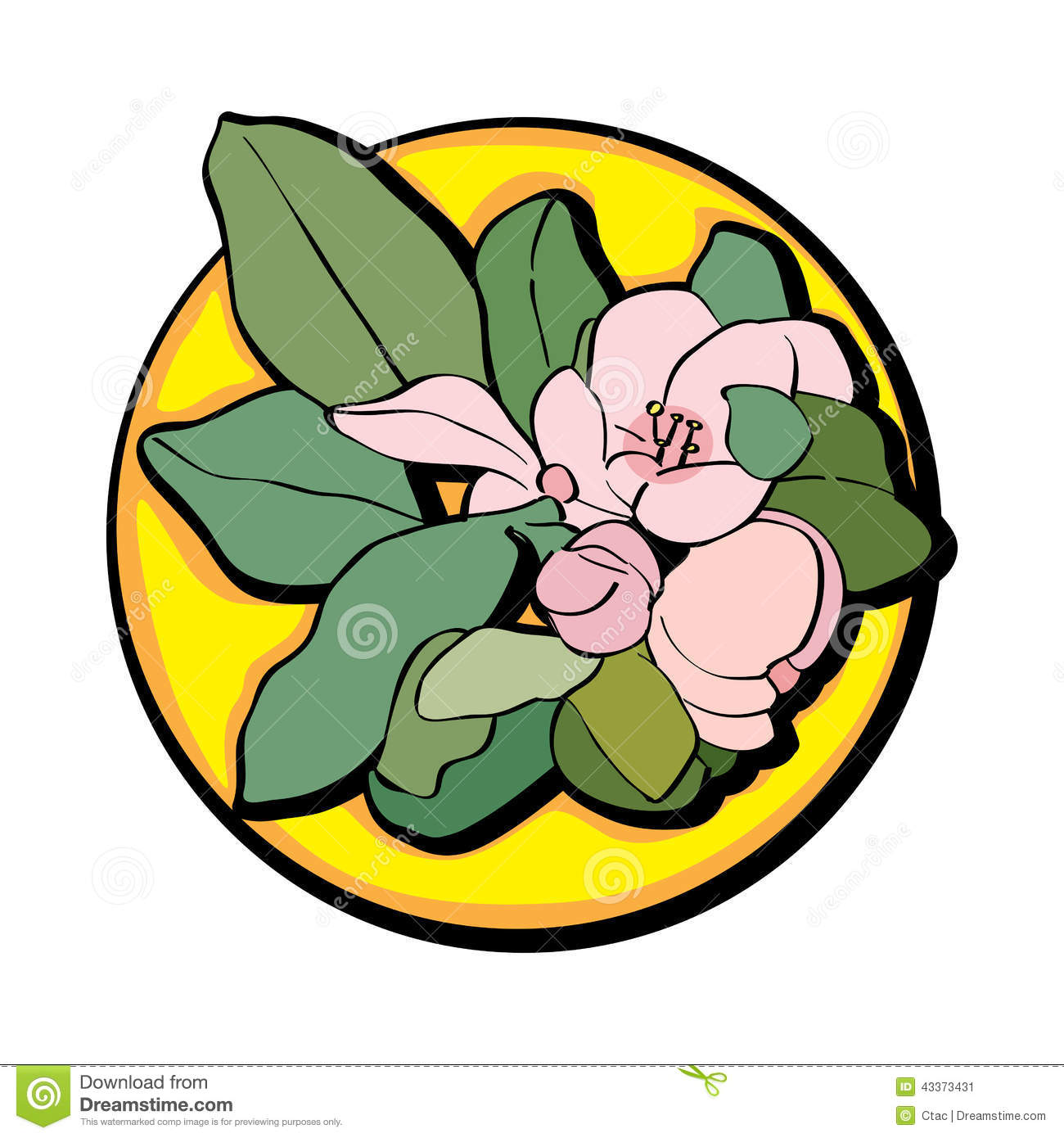 Apple Flower Clip Art Yellow Stock Illustration - Image ...