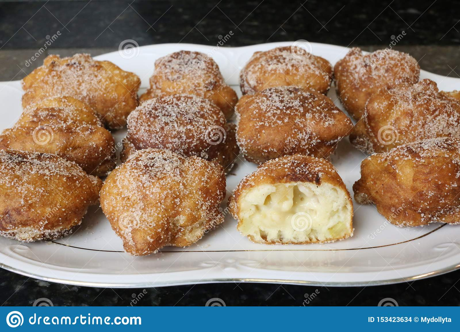 Apple Fritters typical sweet for christmas