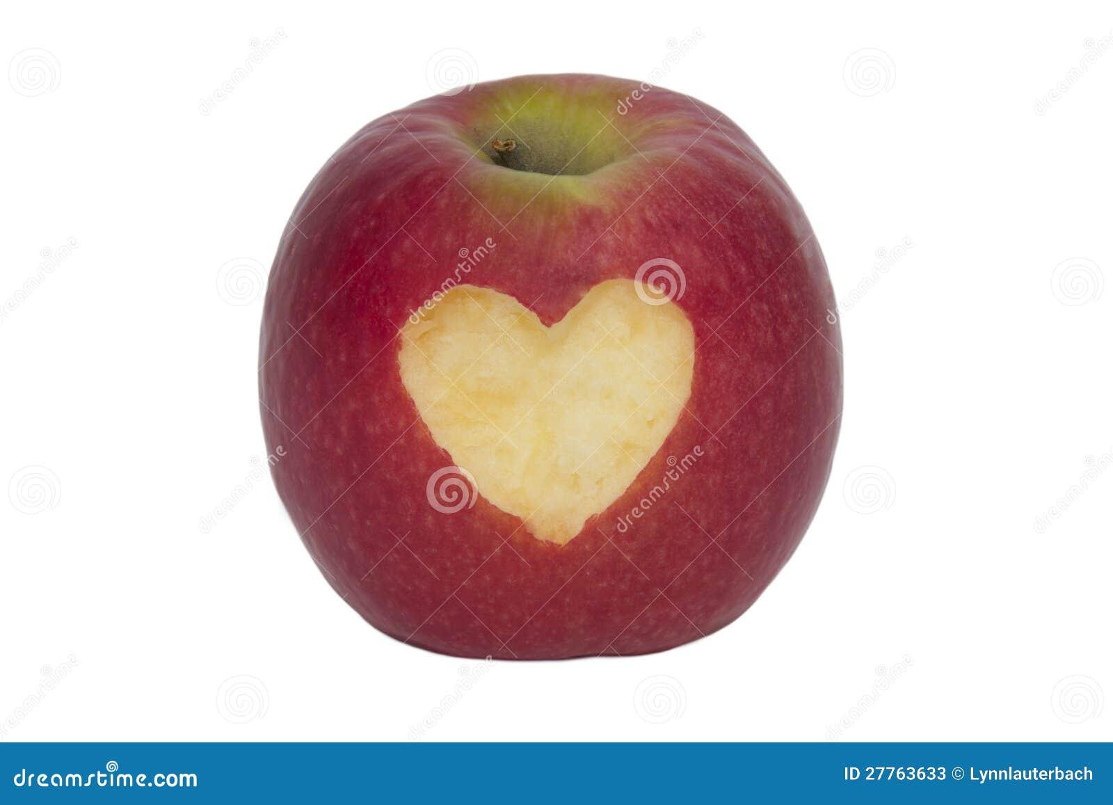 Apple fruité avec le coeur - d isolement