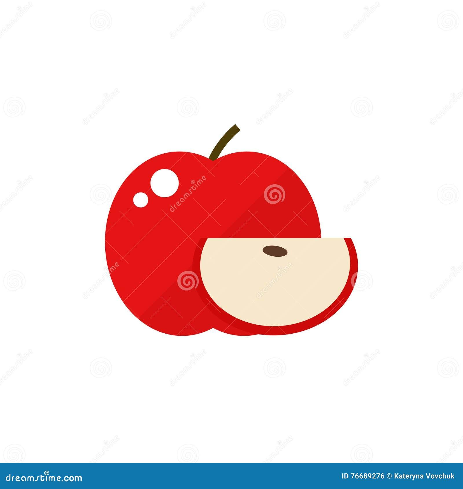 Apple fruit icon.