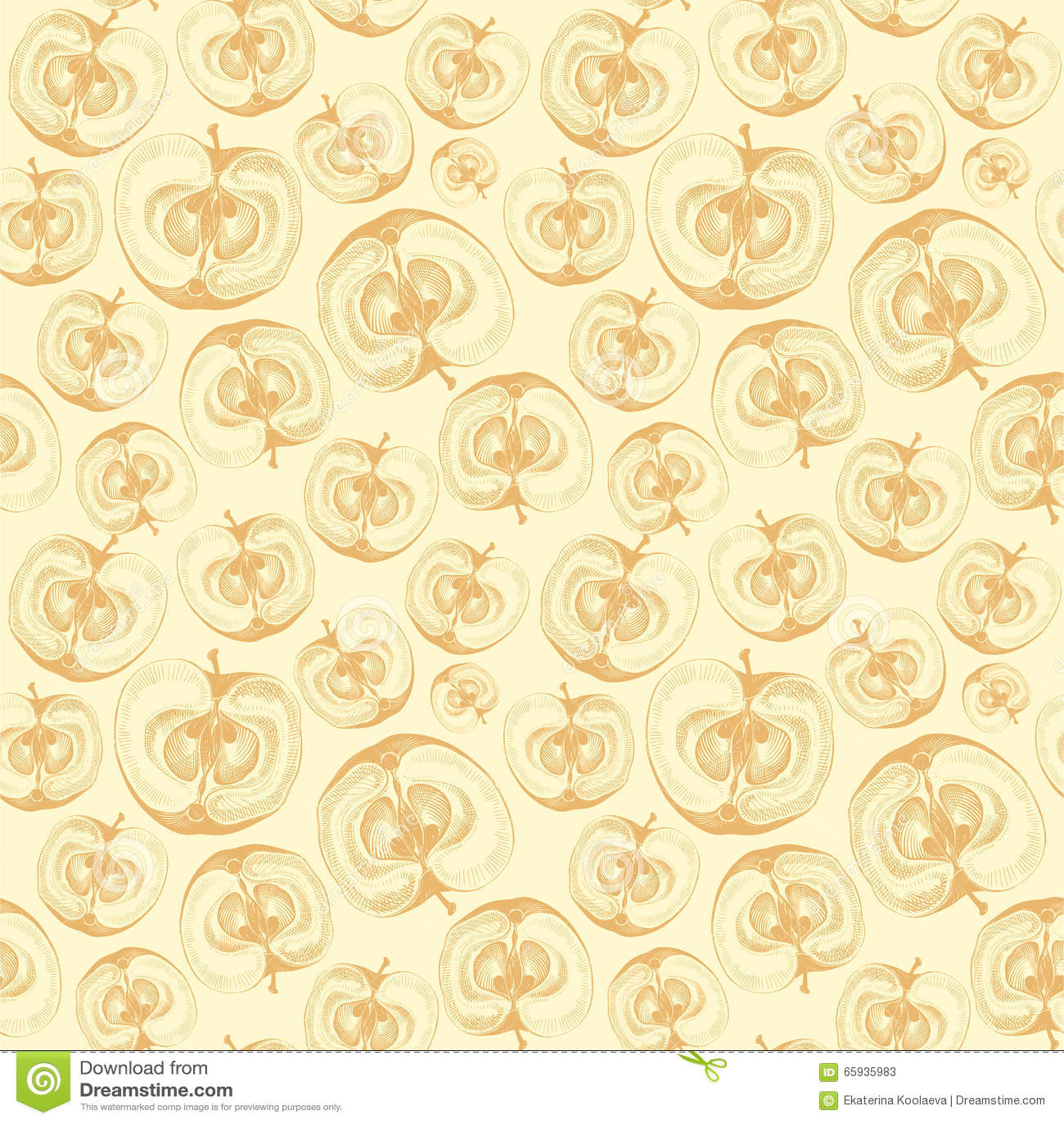 Apple Fruit Wallpaper Seamless Pattern. Stock Illustration ...