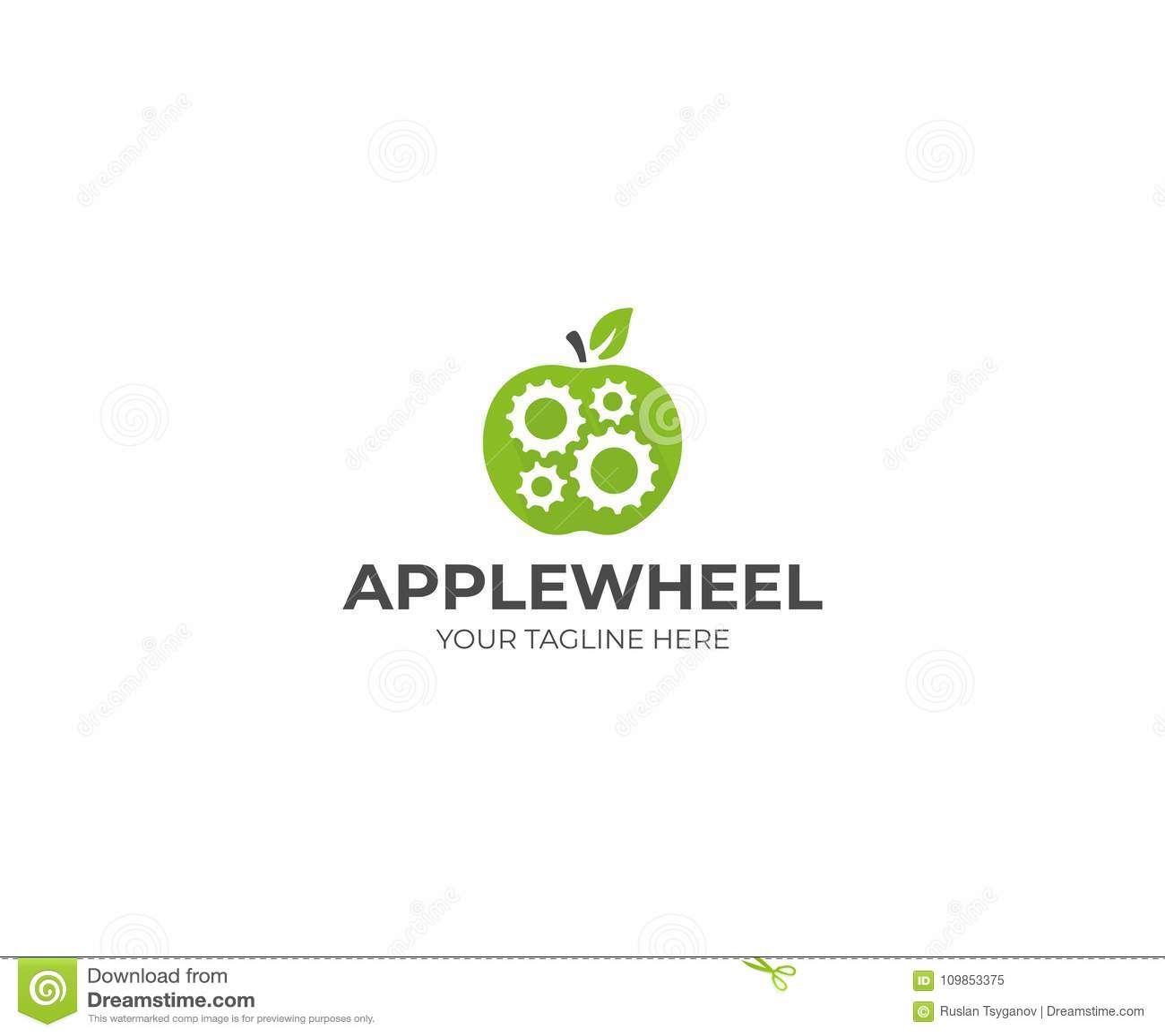 Apple and gear wheel logo template gear mechanism in apple fruit download apple and gear wheel logo template gear mechanism in apple fruit vector design stock maxwellsz