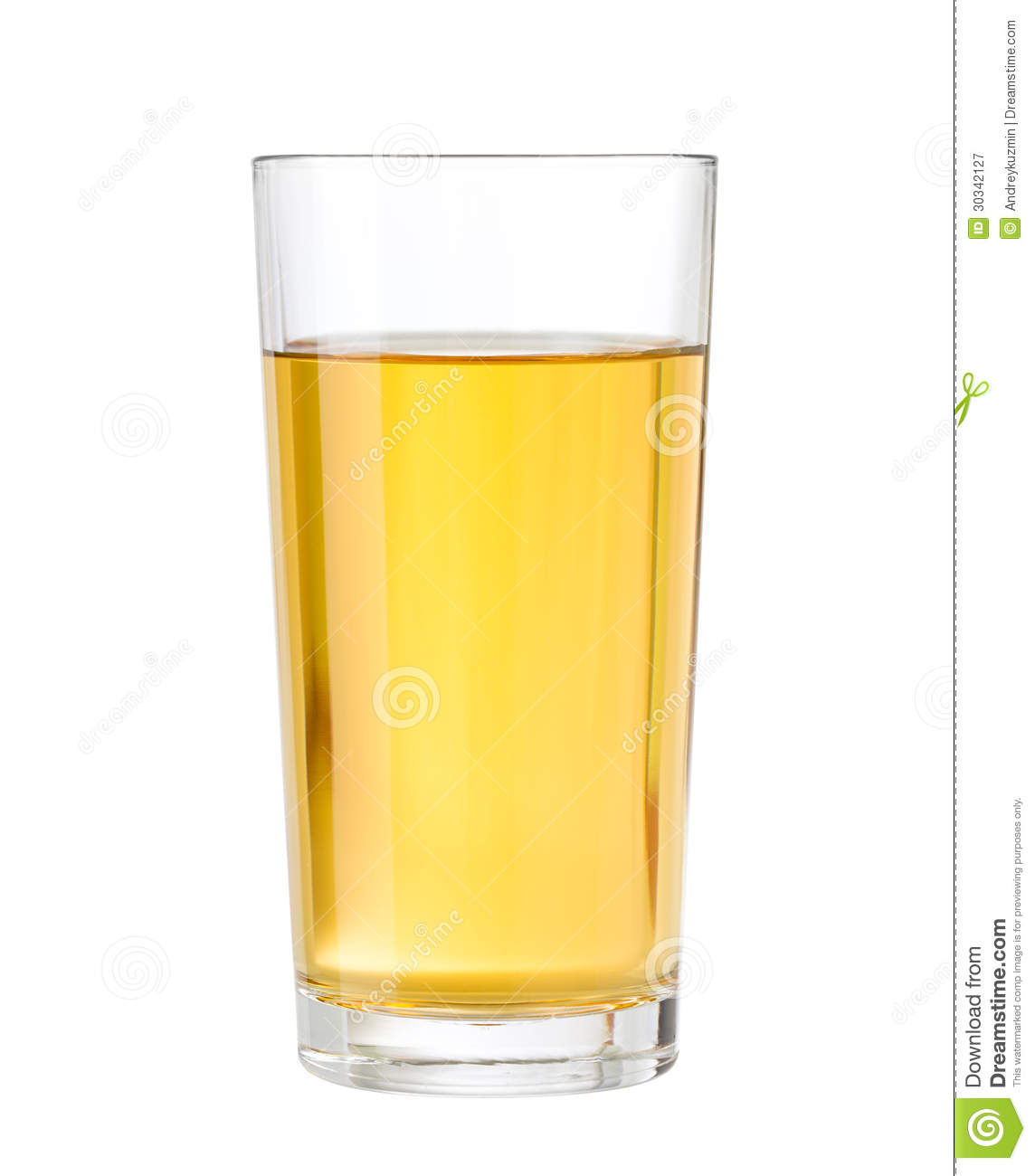 Apple Or Grape Clarified Juice In Glass Isolated Stock ...