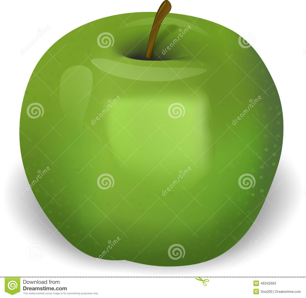 delicious green apple illustration - photo #12