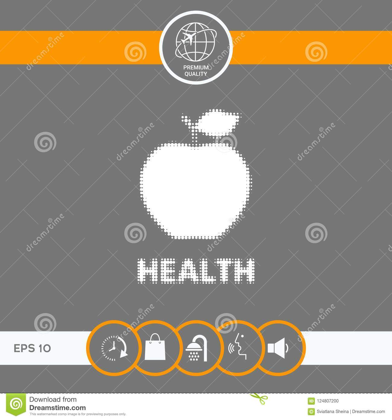 Apple Halftone Logo Stock Vector Illustration Of Juicy 124807200