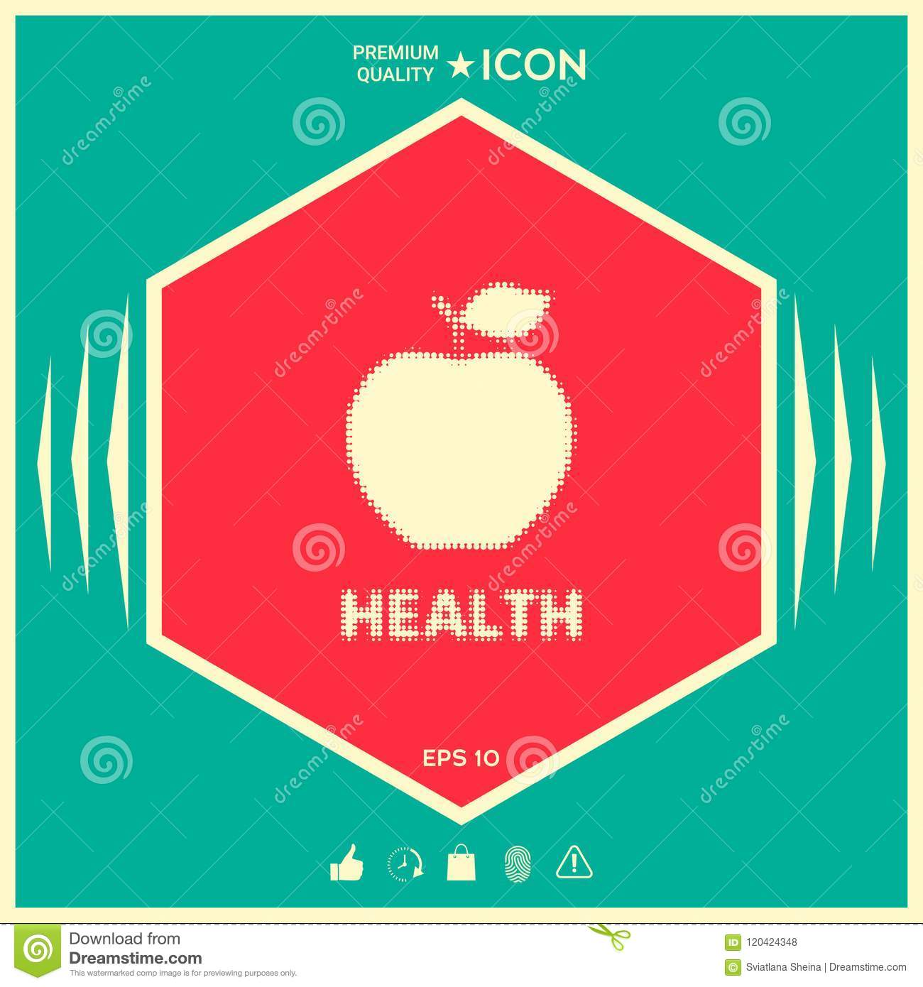 Apple Halftone Logo Stock Vector Illustration Of Juicy 120424348
