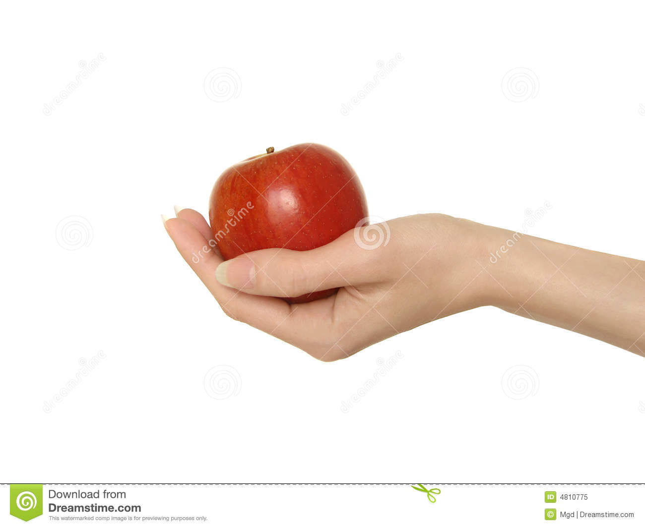 Apple in hand stock image. Image of concept, fingers ...