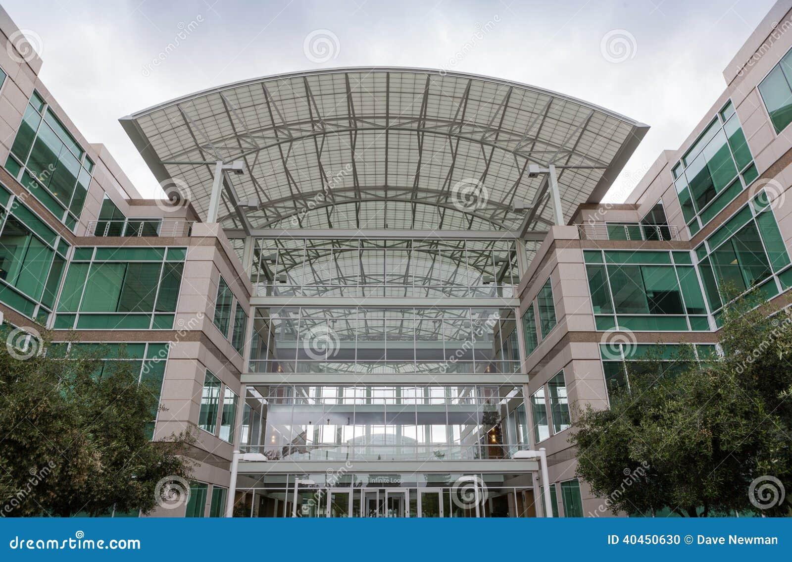 Apple Headquarters In Cupertino, California Editorial Image
