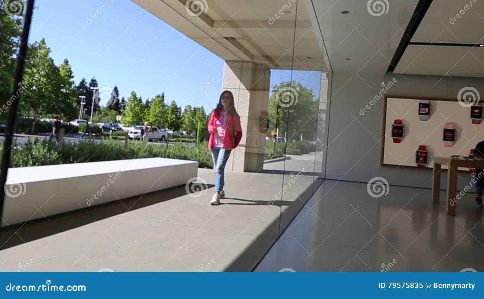 Apple Headquarters Infinite Loop Stock Video - Video of