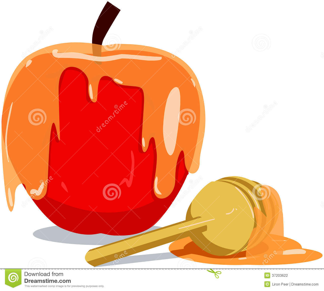 Apple And Honey For Rosh Hashanah Stock Photography ...