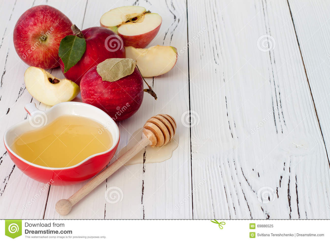 Apple And Honey, Traditional Food Of Jewish New Year ...