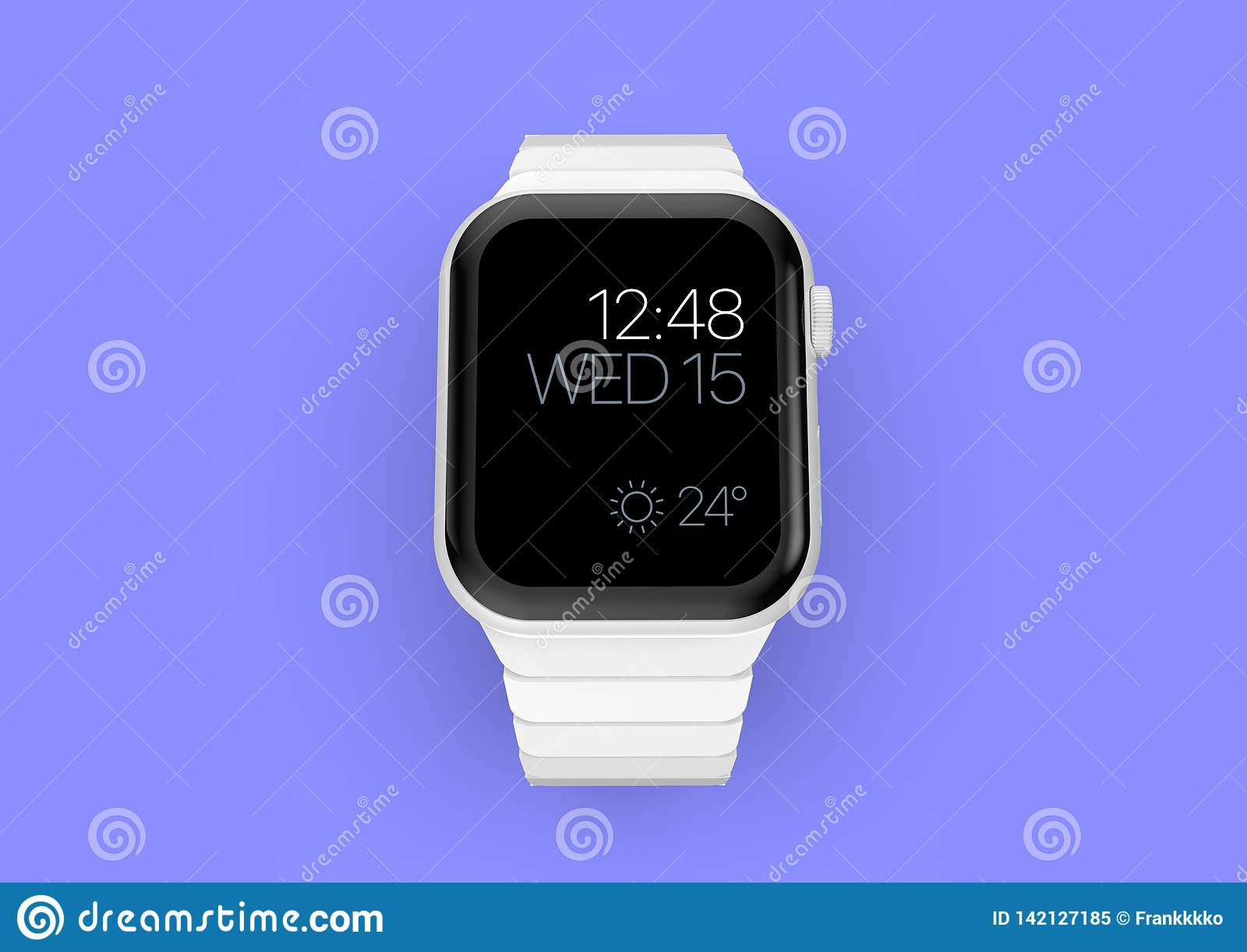 Apple-Horloge 4 wit ceramisch fictief gerucht smartwatch, model