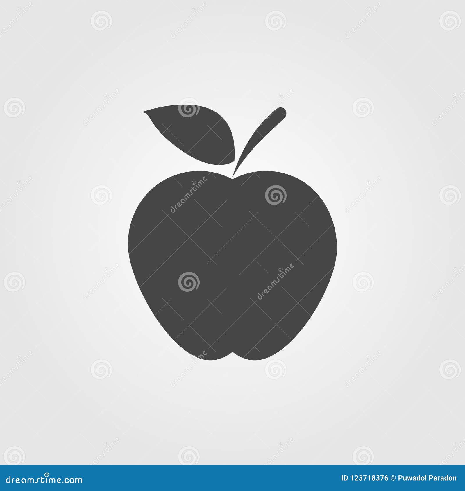 apple icon flat style isolated on background. apple sign symbol