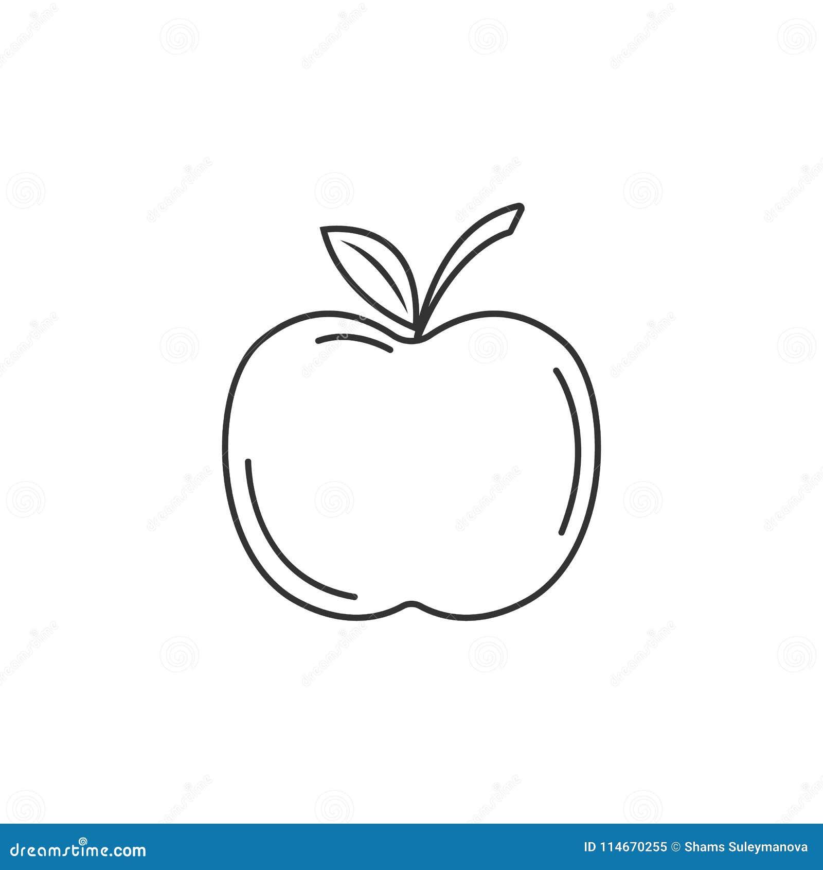 apple icon simple element illustration apple symbol design