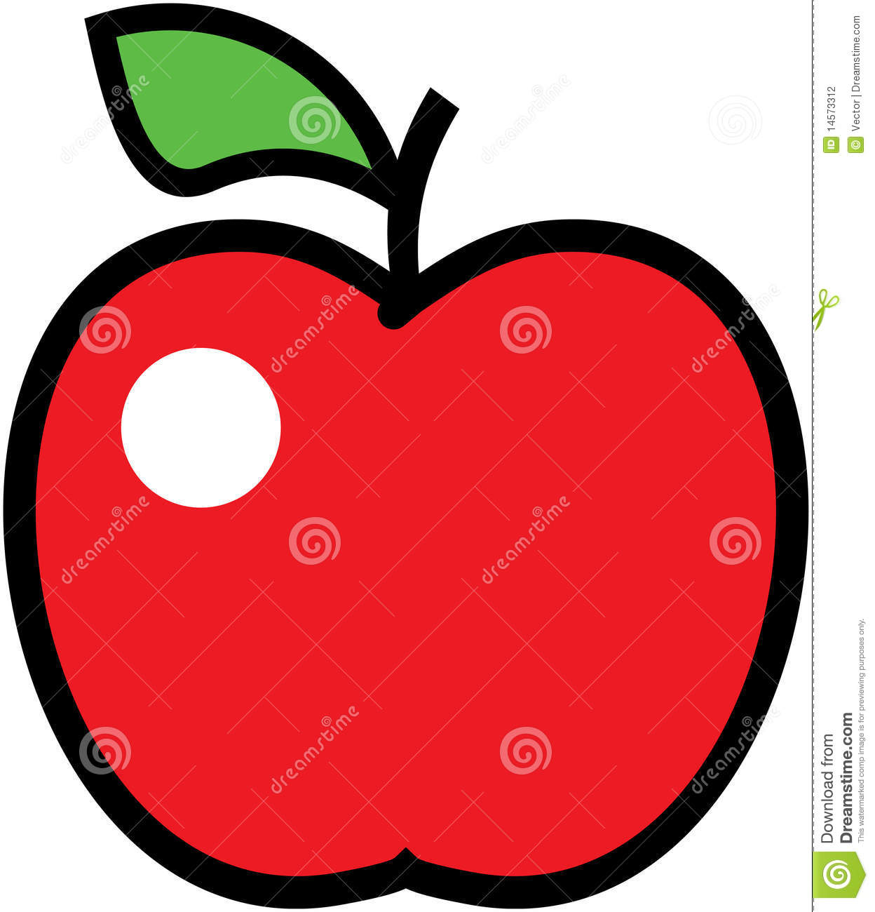 apple illustration stock vector image of fruity 14573312 red apple clip art cartoon red delicious apple clip art