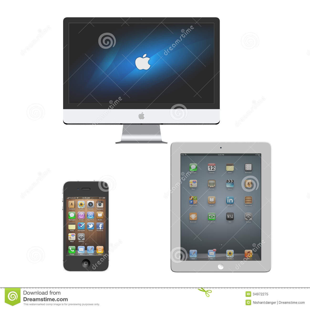 Apple Imac Iphone Ipad Editorial Image Image 34972275